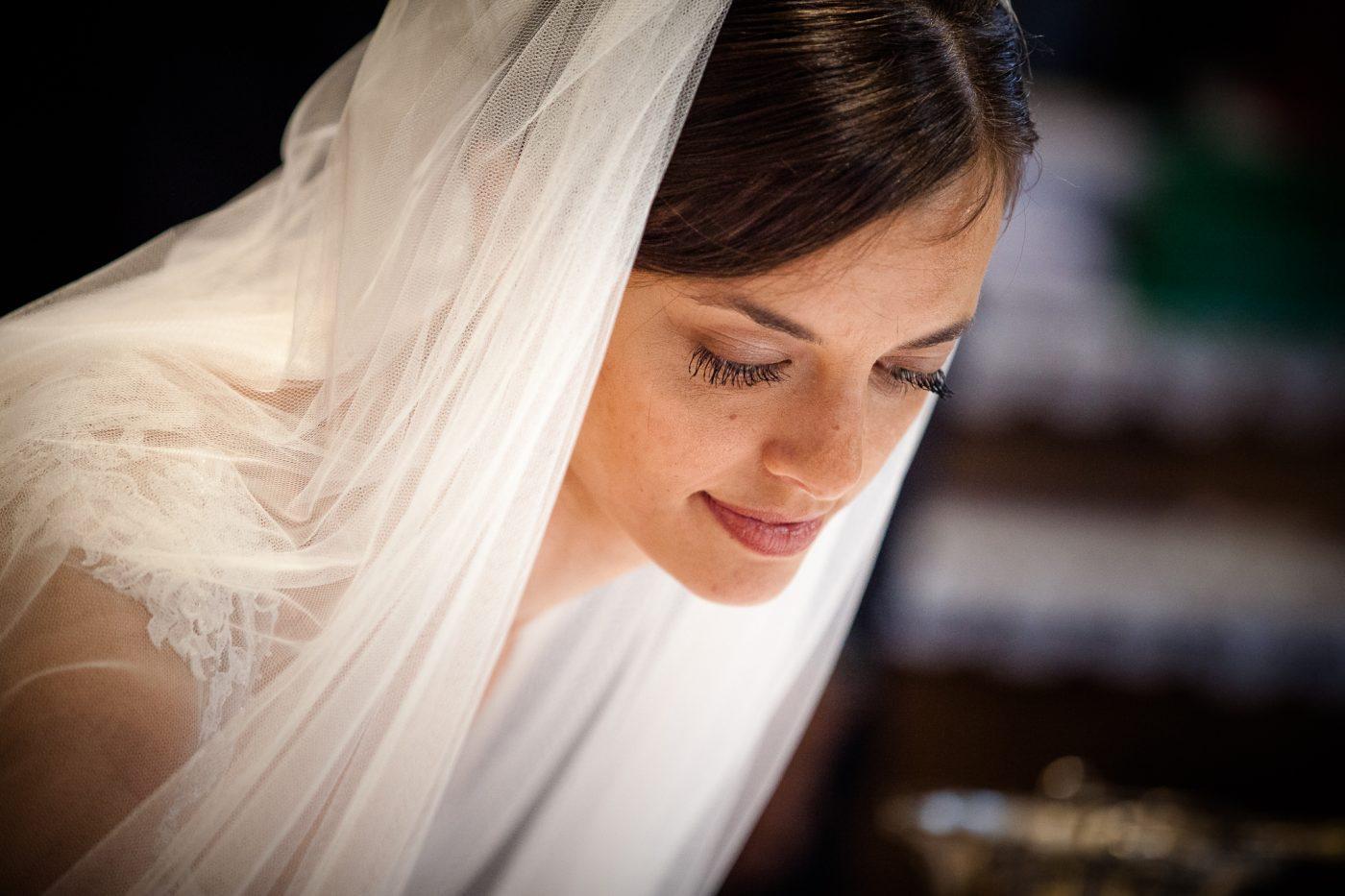 Foto di matrimonio, ritratto sposa