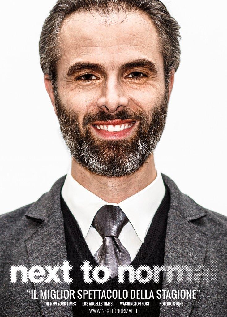 Next To Normal – Italia. Poster di Dan interpretato da Antonello Angiolillo