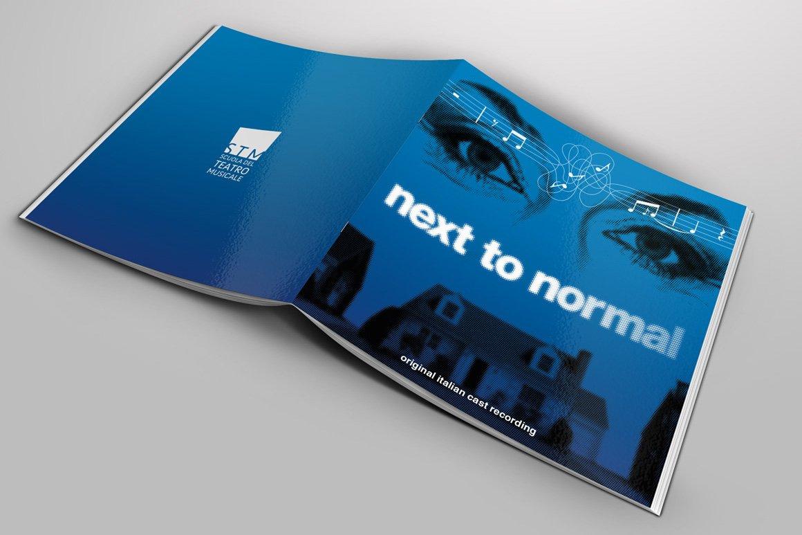 Il libretto del CD di Next To Normal – Italia realizzato da Gaetano Cessati