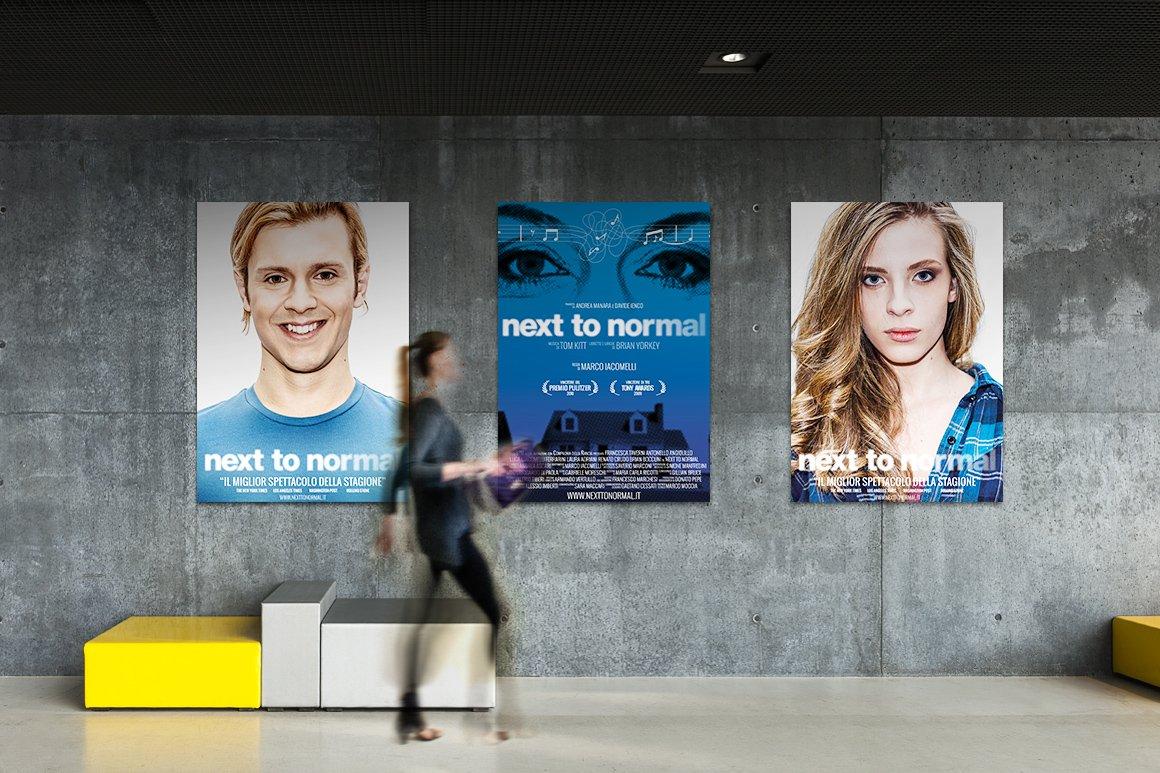 Presentazione dei poster di Next To Normal – Italia. Luca Giacomelli Ferrarini e Laura Adriani