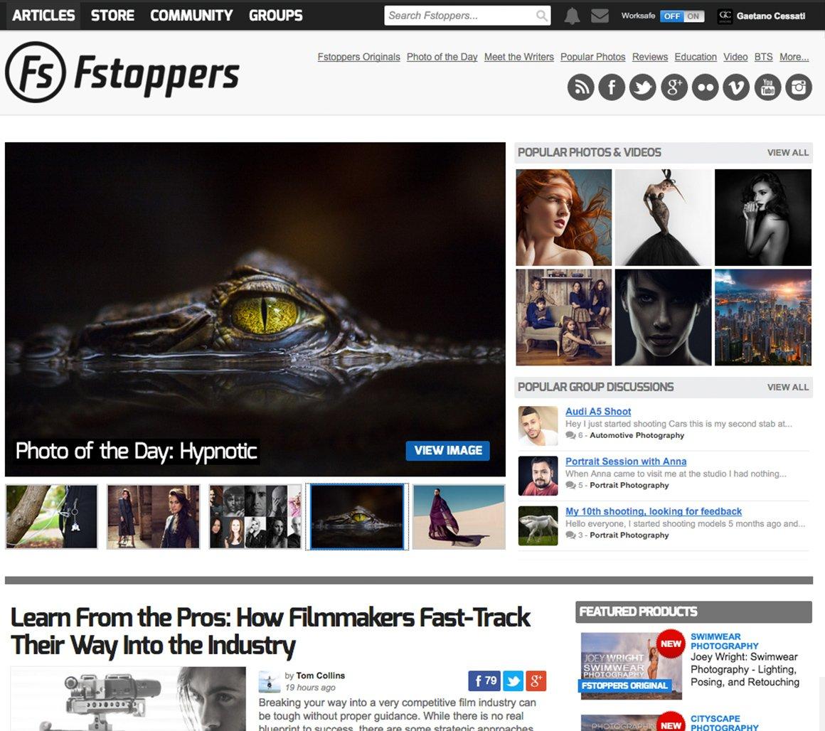 Hypnotic è fotografia del giorno sul blog americano Fstoppers.com