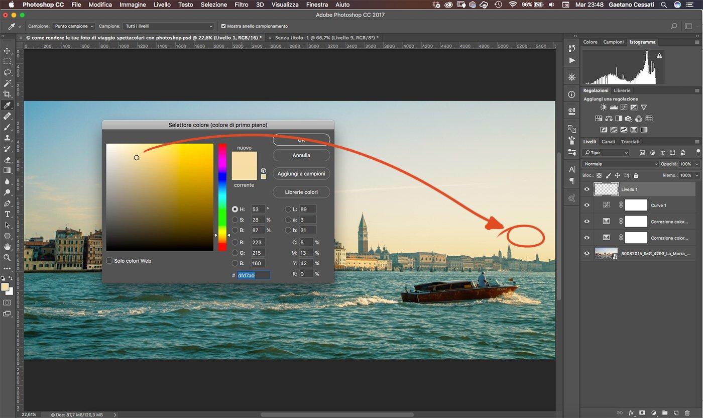 Come rendere le tue foto di viaggio spettacolari con photoshop 10