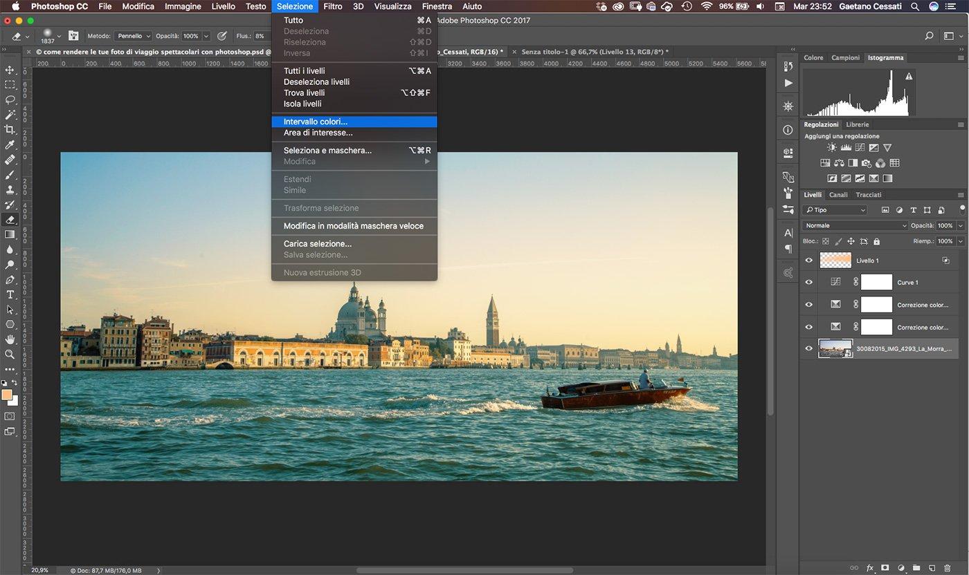 Come rendere le tue foto di viaggio spettacolari con photoshop 14
