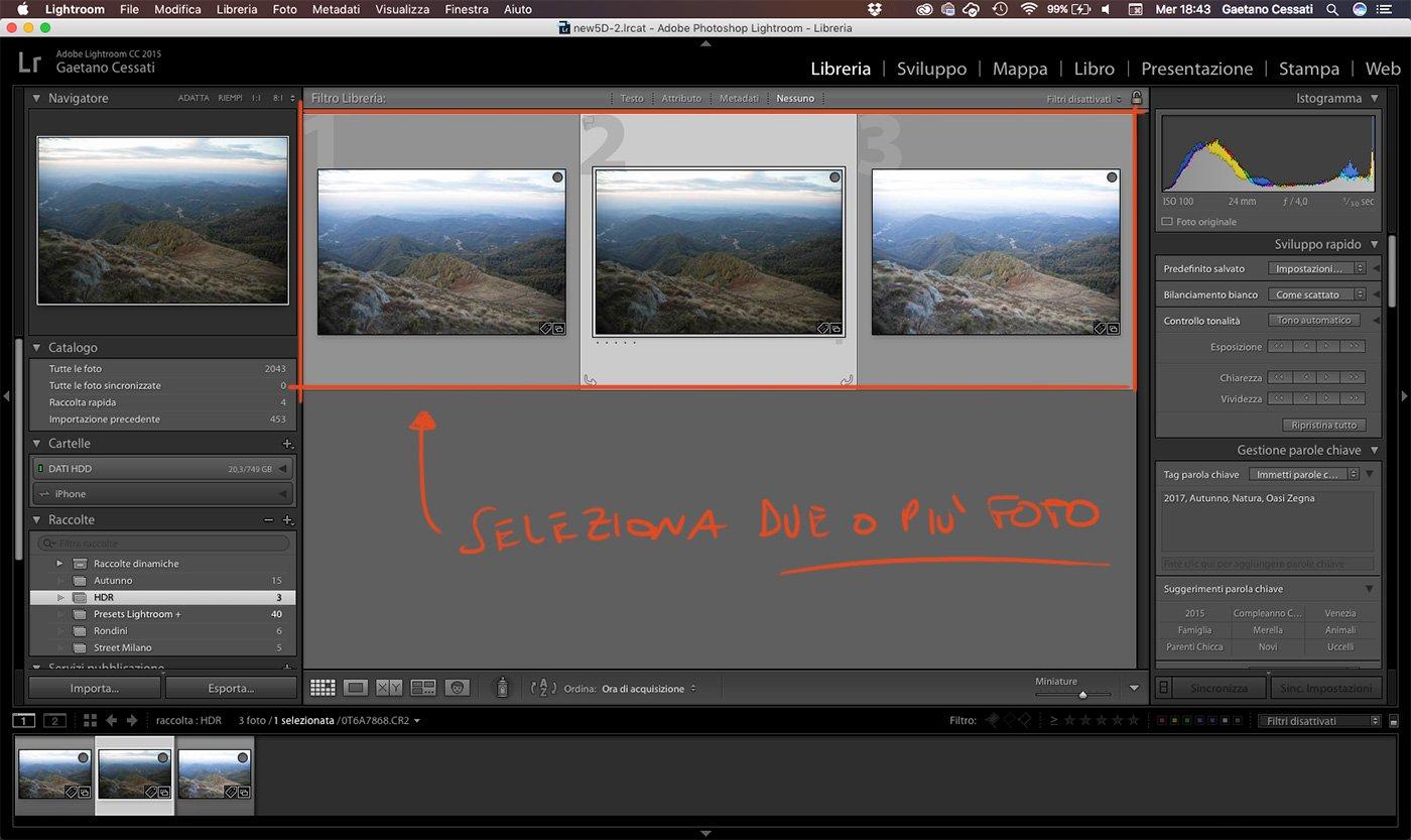 1 - come sviluppare una foto HDR con Lightroom