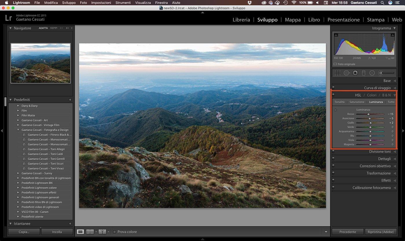 12 - come sviluppare una foto HDR con Lightroom