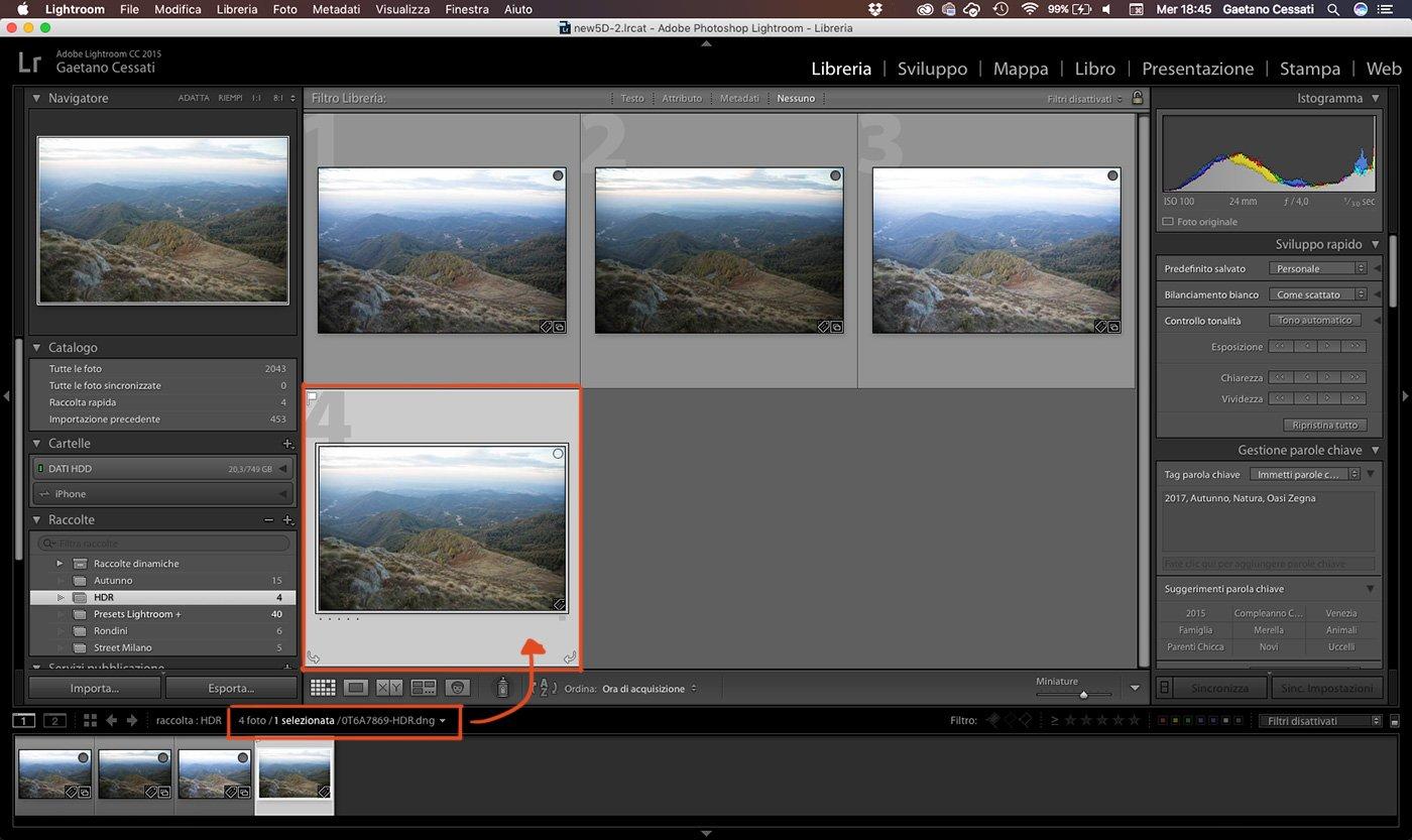 4 - come sviluppare una foto HDR con Lightroom