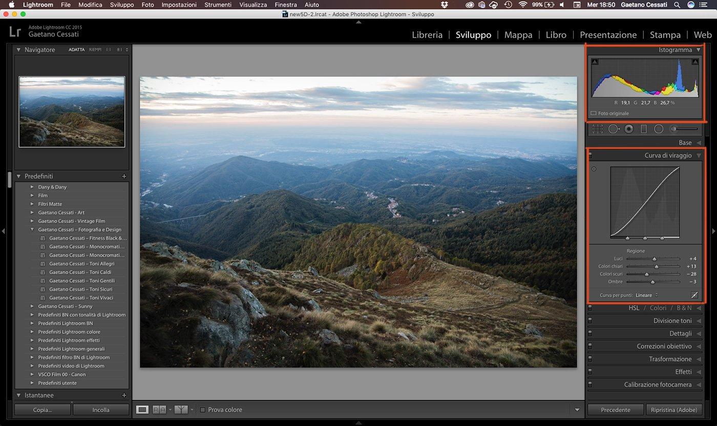 6 - come sviluppare una foto HDR con Lightroom