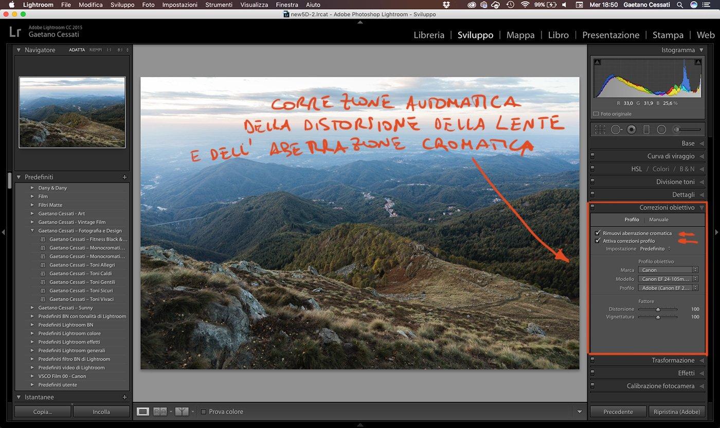 7 - come sviluppare una foto HDR con Lightroom