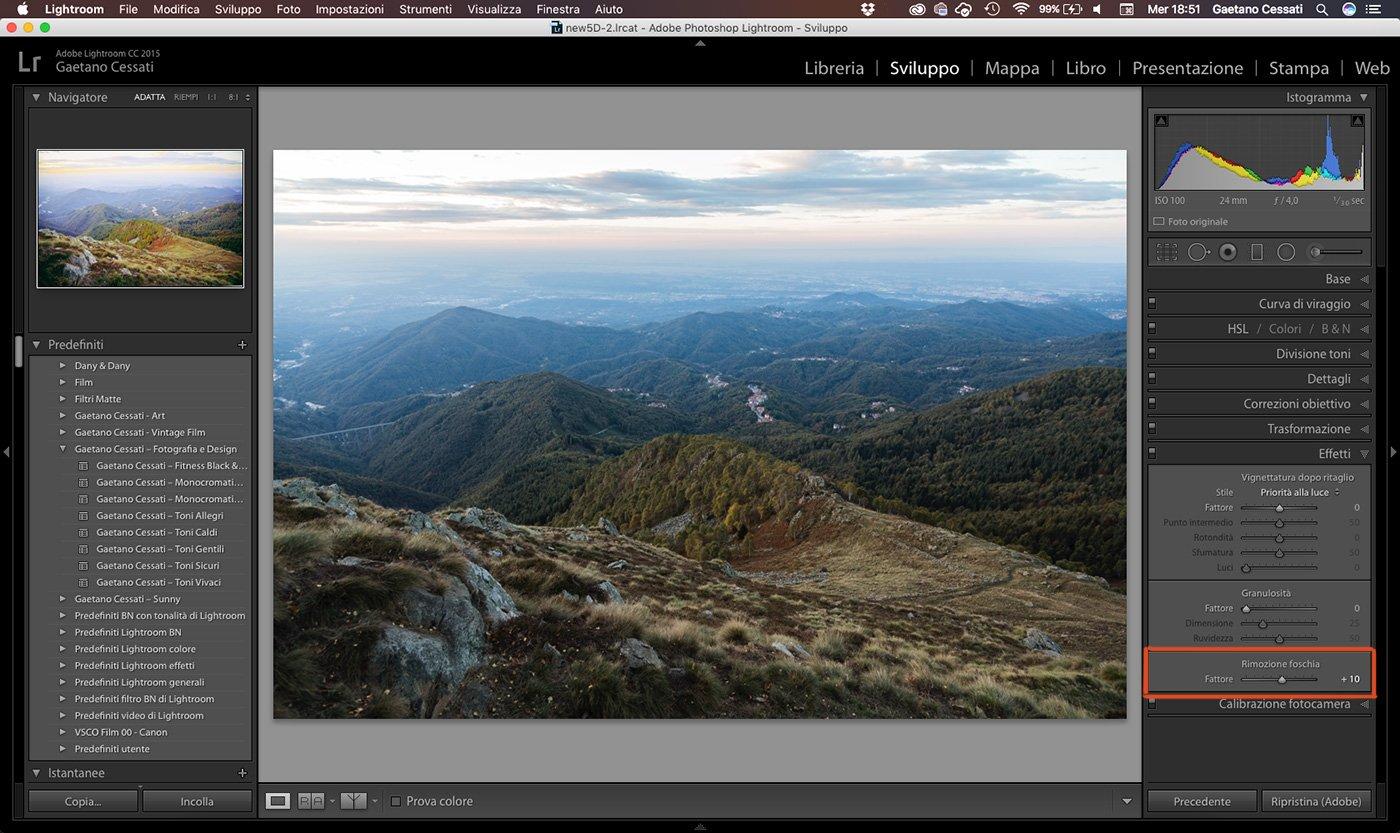 8 - come sviluppare una foto HDR con Lightroom